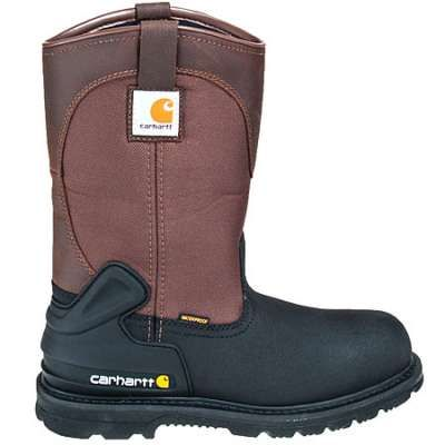 Carhartt Boots: Men's Brown CMP1259 Steel Toe Insulated Pull On Boots