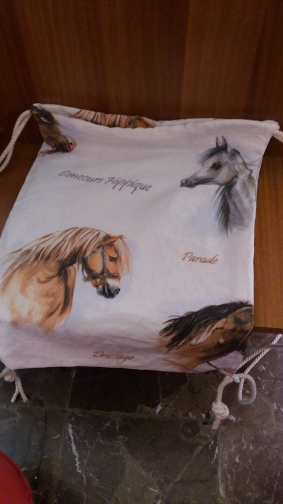 Zainetto stampa cavalli, by francycreations non solo idee regalo, 15,00 € su misshobby.com