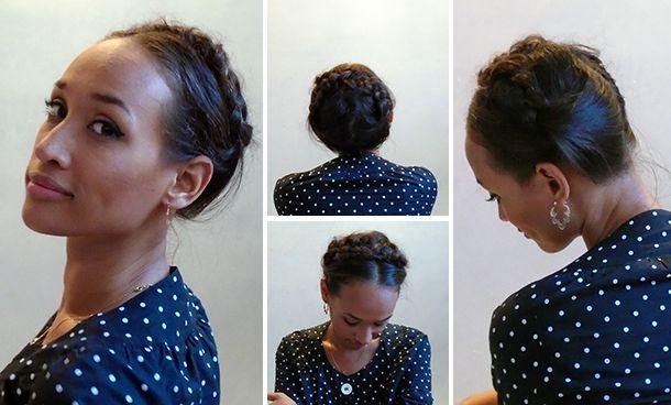 Penteado facílimo, trança coroa/leiteira em cabelo curto e cacheado! - Medusa Moderna