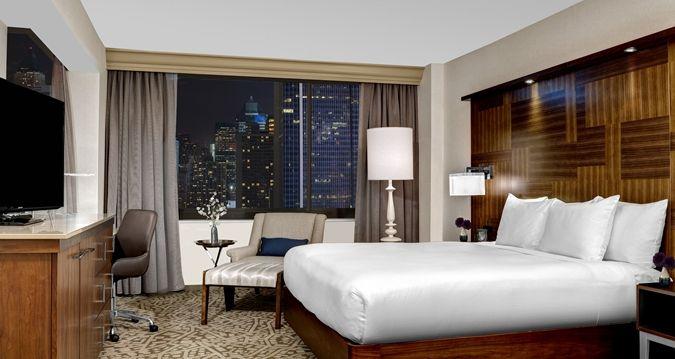 Hilton Times Square Hotel, New York, NY - King Corner Room | NY 10036