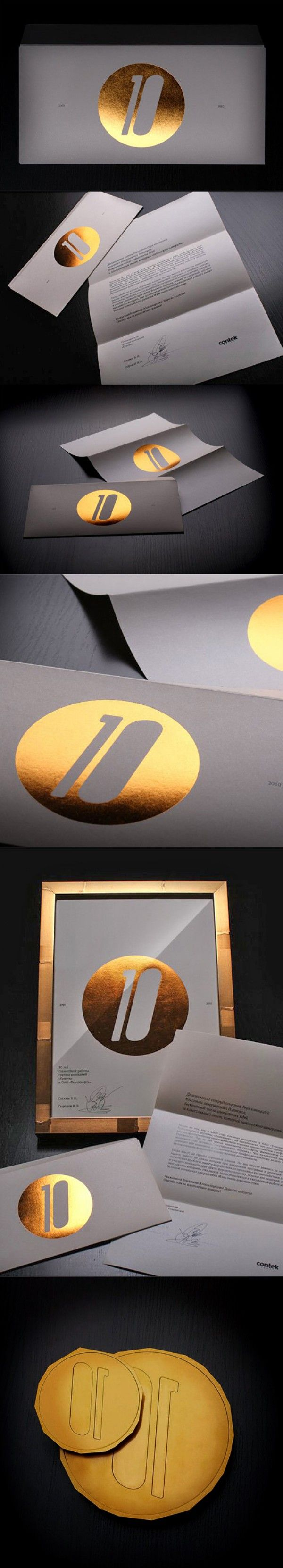 10 Identity - Metallic Ink or Gold Foil? (Awesome) -FromUpNorth: 10 Identity, 10 Graphics Design, Black Gold Graphics Design, Gold Foil, Inspiration Prints, Gold Metals Boxes, Metals Boxes Gold, Design Studios, Branding Identity Design