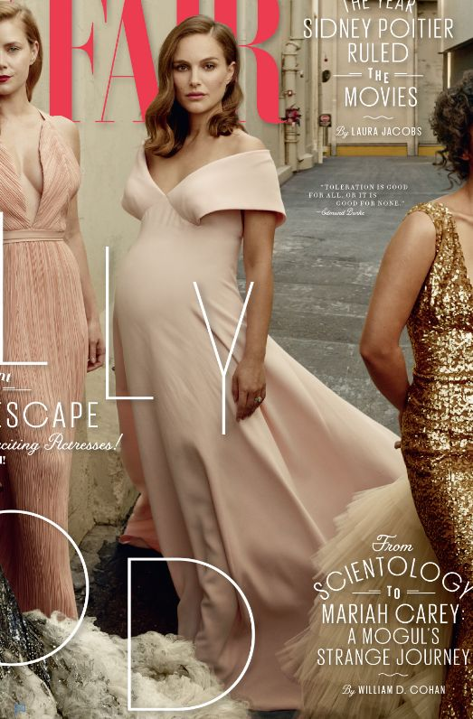 No disrespect to any of the women but Natalie Portman looks particularly amazing — she practically radiates from the cover in her full-on pregnancy glow!