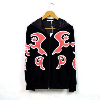Conception fraîche adolescente garçons hoodies noir bandana sweat floral veste tendance cardigan hommes surdimensionné flamme impression lâche vêtements