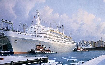 SS Rotterdam in New York 1961
