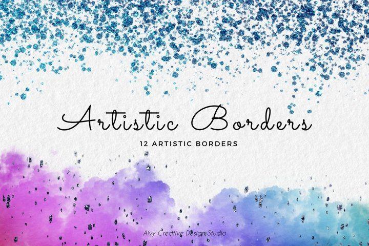 Download 12 Colourful Artistic Abstract Border Or Frames Clip Art Set In 2020 Frame Clipart Art Set Clip Art