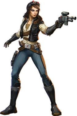 Star Wars: The Old Republic Smuggler. I want to be this for next Halloween, some amazing person with mad skills make me this costume! Please? :)