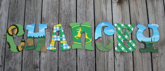 Custom Painted Wooden Letters Hand Painted Baby by PaintNest