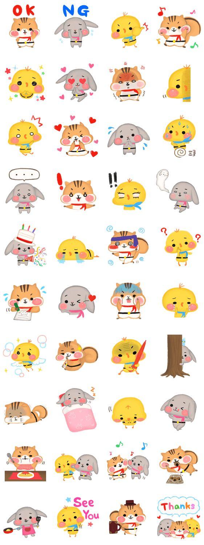 Hoppe-Tai by Nako Yamaguchi | Line Stickers Store