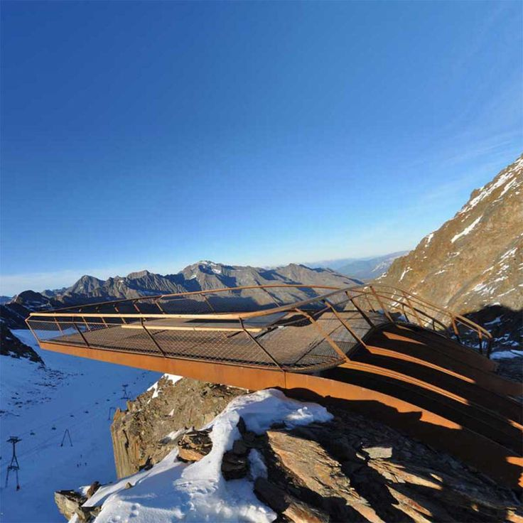 Observation platform on top of theTyrolean Alps