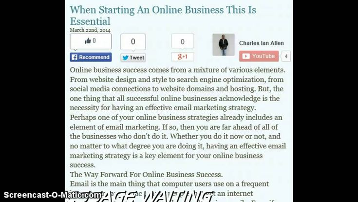 When Starting An Online Business This Is Essential