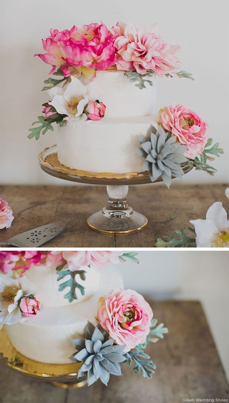 DIY Floral Wedding Cake