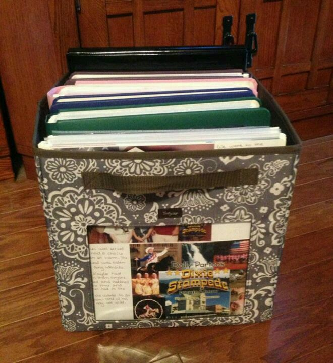 12x12 scrapbook albums fit perfect in the your way cube!