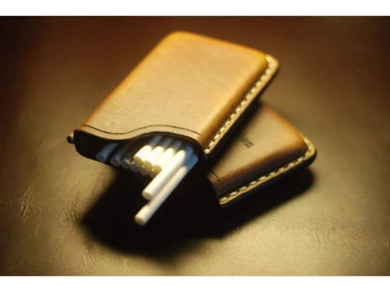 Handmade Leather Cigarette Case Leather cigarette case Gifts