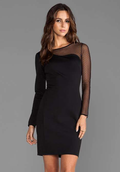 Love the Halston Heritage Ponte Sheath Dress with Mesh Contrast on Wantering. @gtl_clothing #getthelook http://gtl.clothing
