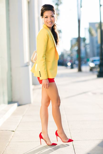 Color Burst :: Sequin top & Yellow blazer :: Outfit :: Top :: Zara blazer, J.Crew top Bottom :: Zara Shoes :: Gianvito Rossi Bag :: Valentino Accessories :: Lulu Frost necklace Published: June 26, 2013