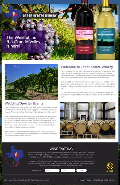 Website Design and Development for Jaber Estate Winery