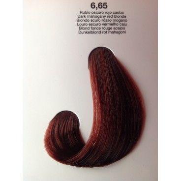 kit de coloration permanente cheveux blonds foncs rouges acajou - Henne Color Acajou