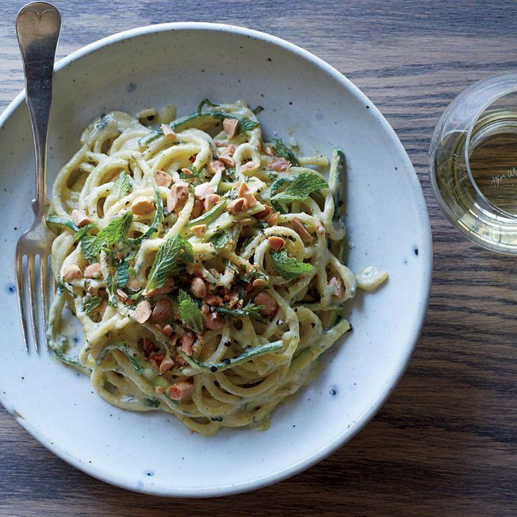 Spaghetti with Fresh Zucchini Pesto | Food & Wine