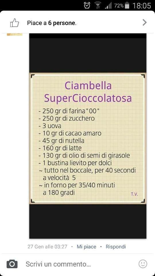 Ciambella super cioccolatosa