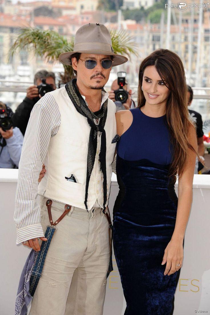 Johnny Depp et Penélope Cruz au Festival de Cannes pour la présentation de Pirates des Caraïbes, Mai 2011
