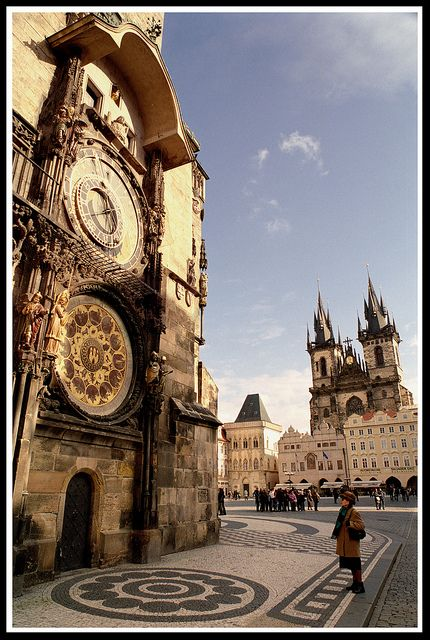 The clock chimes every hour on the hour and a number of biblical figures appear. In Prague