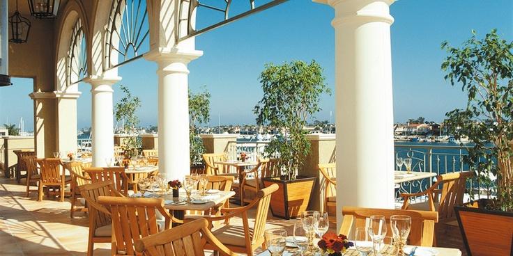 The Balboa Bay Club & Resort  ( Newport Beach, California )  Enjoy waterfront dining at First Cabin restaurant and jazz every night at Duke's Place. #Jetsetter #JSBeachDining