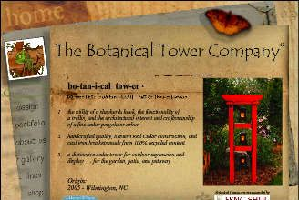 Botanical Towers offer the utility of a shepherds hook, the functionality of a trellis, and the architectural interest and quality of a fine cedar pergola or arbor.