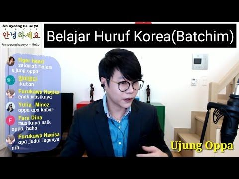 Belajar Bahasa Korea Secara Online with Ujung Oppa(Jawaban Ulangan Episode1-4) - YouTube