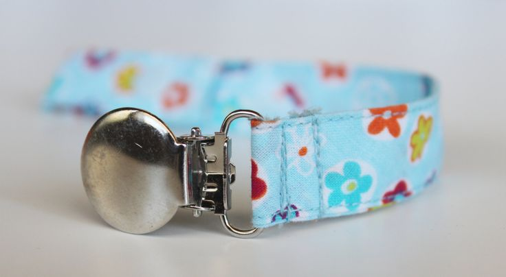 Blue Flowers Pacifier Clip, Soothie pacifier, Baby pacifier clip, Binky Clips, Paci Clip, Pacifier holder,flowers pacifier clip by BlackBunnyCreations on Etsy