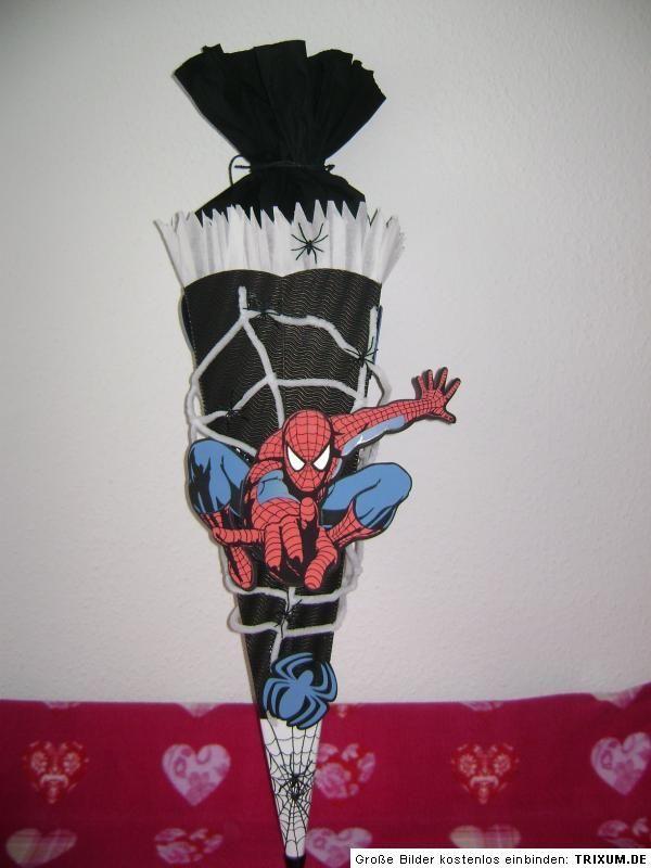 Schultute Spiderman Spinne Handarbeit Schultute Schultuten Jungs Schultute Basteln