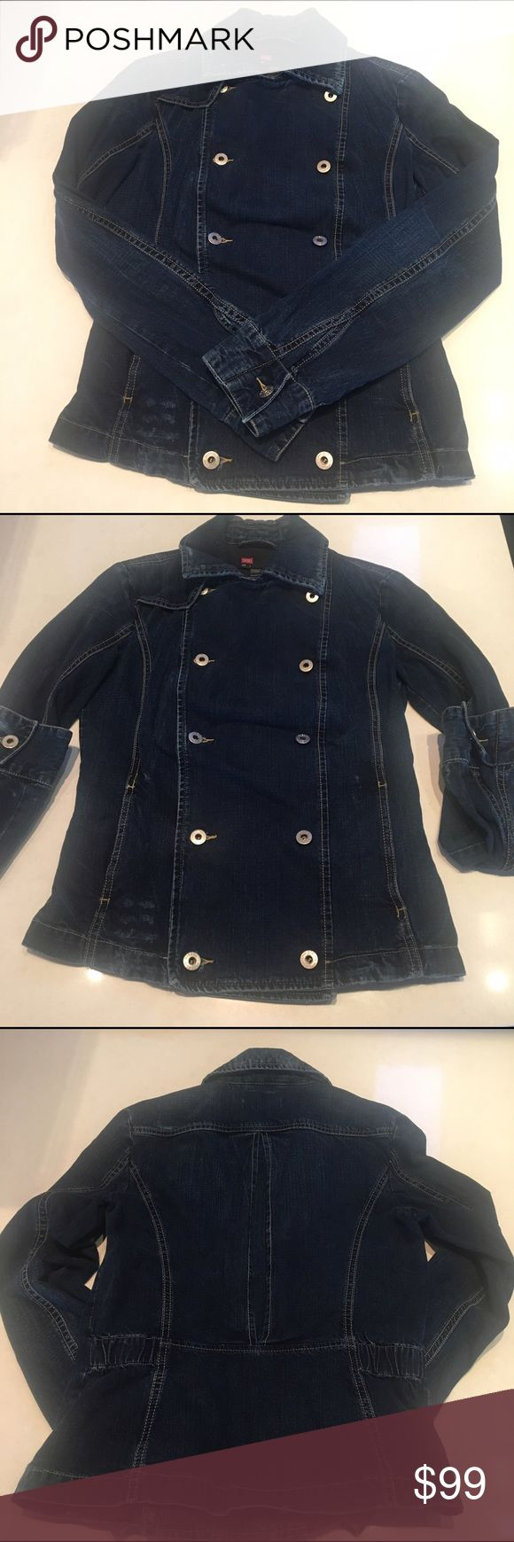 Diesel Double Breasted Military Jean Jacket Small Super cute Diesel jacket with amazing cut and style. Diesel Jackets & Coats Jean Jackets