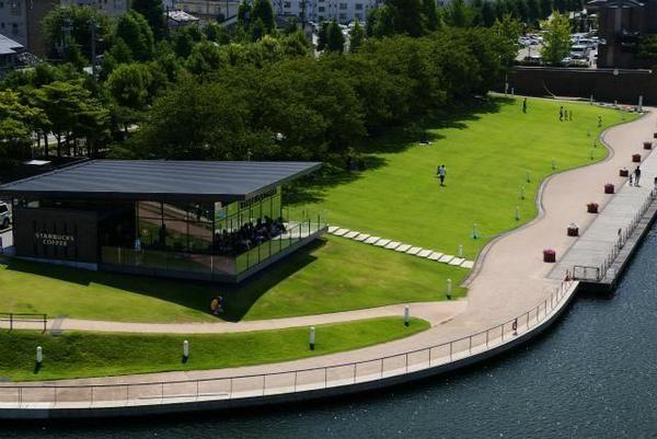 世界で一番美しいと評判 スターバックスコーヒー富山環水公園店富山駅そば