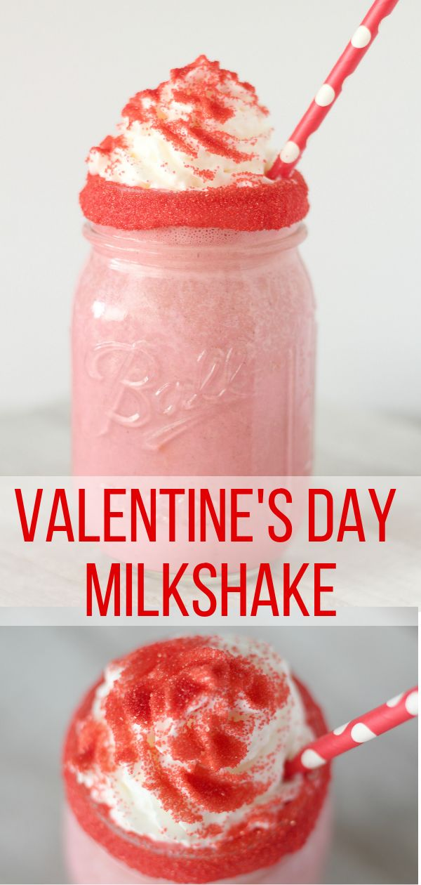 Valentine's Day Milkshake: The Sweetheart Shake