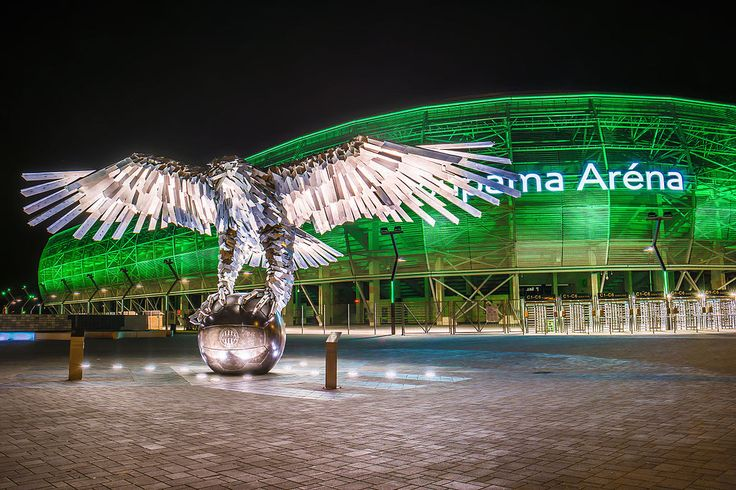 Groupama Arena, Ferencvárosi TC play their home games in it and it is also the home of the Hungarian national football team temporarily