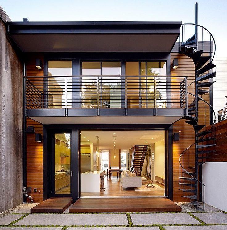 A combinação que nunca falha: vidro+metal+madeira - Hill Street Residence by John Maniscalco Architecture