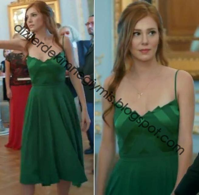 Kiralık Aşk - Defne (Elçin Sangu), Green Dress