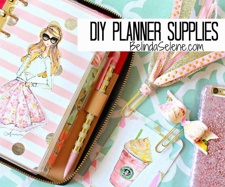 BelindaSelene: DIY Planner Supplies: Journaling Cards, Bow Paper Clips, Tassel Page Markers.