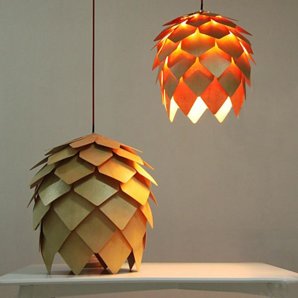 Find More   Information about Modern Art Wooden Pinecone Pendant Light Home Restaurant Hanging Pine Cone Wood Pendant Lamp Home Decorative Fixture Lighting,High Quality  ,China   Suppliers, Cheap   from Zhongshan East Shine Lighting on Aliexpress.com