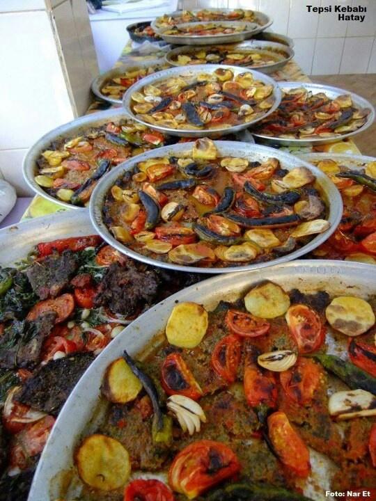 Tepsi Kebabı ..Turkish cuisine