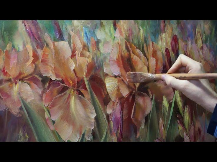 """""""Ирисы"""". Олег Буйко. Живопись маслом. Process of creating oil painting."""