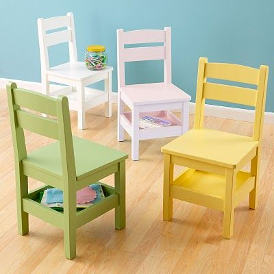 storage chairs... I like the other ones better, but the storage tray on these is enticing.  These are also DIY