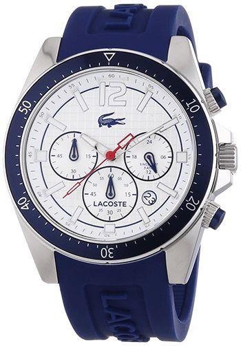 Montre Lacoste 2010711 Homme - Quartz - Cadran en Acier inoxydable Bleu et Argent - Bracelet en Silicone Bleu - Date - Etanche 5 bars