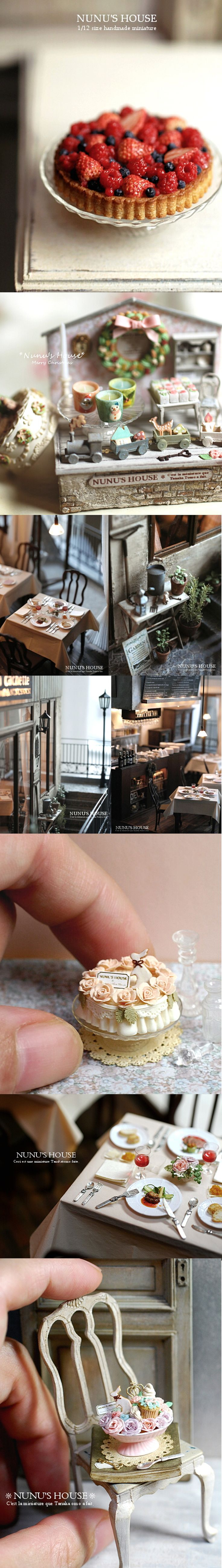 Nunu's House Miniatures. So realistic!!!!
