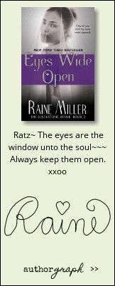 "Authorgraph from Raine Miller for ""Eyes Wide Open"""
