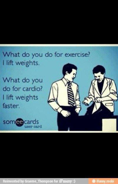Cardio between sets! That's me! Never a dull moment and always getting that blood flowing!