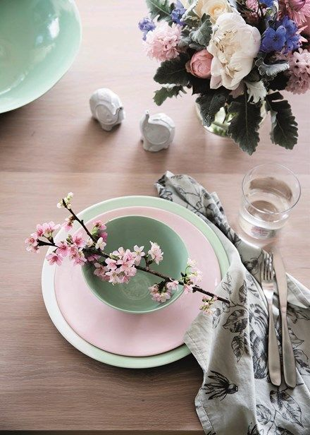 Decorate with flowers - Add a talking point to your table setting with personalised floral pieces that complement your palette.  Home Beautiful