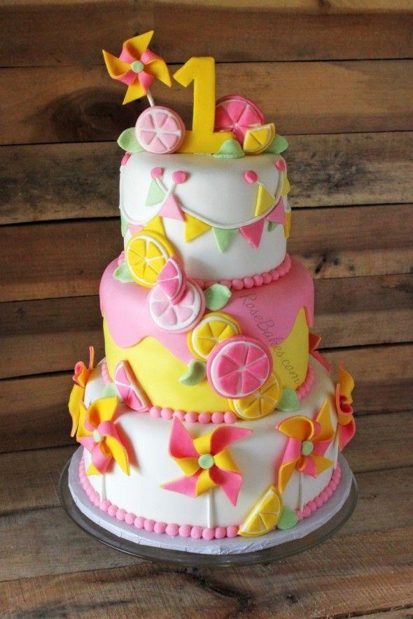 Pinwheels   Pink Lemonade Cake415 best Birthday Cakes for Girls images on Pinterest   Cakes  . Easy First Birthday Cake Girl. Home Design Ideas
