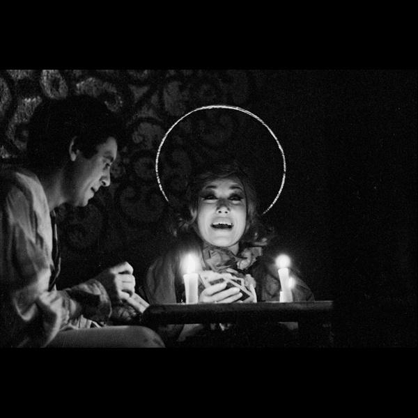 Claudio Abate. Carmelo Bene e Lydia Mancinelli (Santa Margherita) in Nostra Signora dei Turchi. Teatro Beat 72, Roma 1967