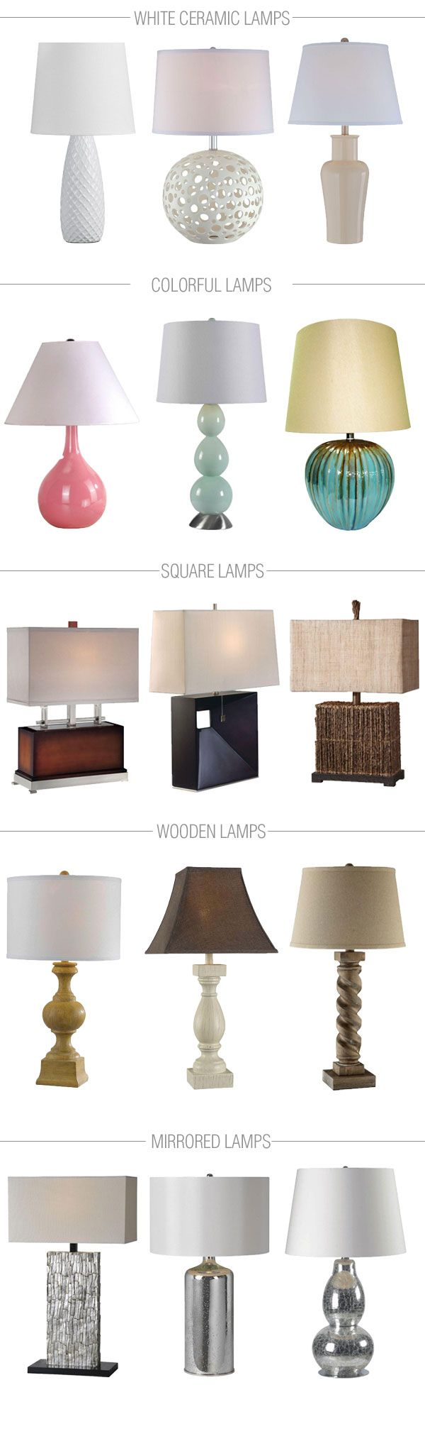 Table lamps are so versatile and bring both function and drama to a room. Here are 15 of our favorite options. Which one do you like best?