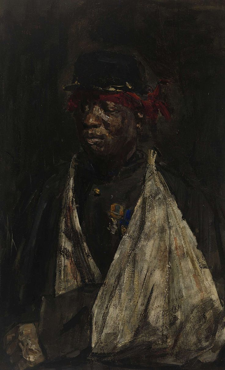 Portrait of a Wounded KNIL Soldier, Isaac Israels, 1882